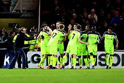 Liverpool celebrate Adam Lallana of Liverpool scoring his second goal - Mandatory by-line: Robbie Stephenson/JMP - 14/12/2016 - FOOTBALL - Riverside Stadium - Middlesbrough, England - Middlesbrough v Liverpool - Premier League