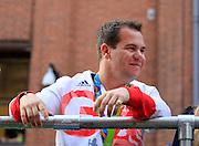 Steven Scott during the Manchester Olympic Parade in Manchester, United Kingdom on 17 October 2016. Photo by Richard Holmes.