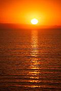 Sunset reflection over Catalina Island, CA