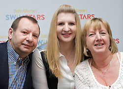 Rebecca Adlington, Press Conference, with parents Stephen & Kay, St James, London, Great Britain, February 5, 2013. Photo by Elliott Franks / i-Images.