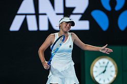 January 17, 2019 - Melbourne, VIC, U.S. - MELBOURNE, VIC - JANUARY 17: SOFIA KENIN (USA) during day four match of the 2019 Australian Open on January 17, 2019 at Melbourne Park Tennis Centre Melbourne, Australia (Photo by Chaz Niell/Icon Sportswire) (Credit Image: © Chaz Niell/Icon SMI via ZUMA Press)