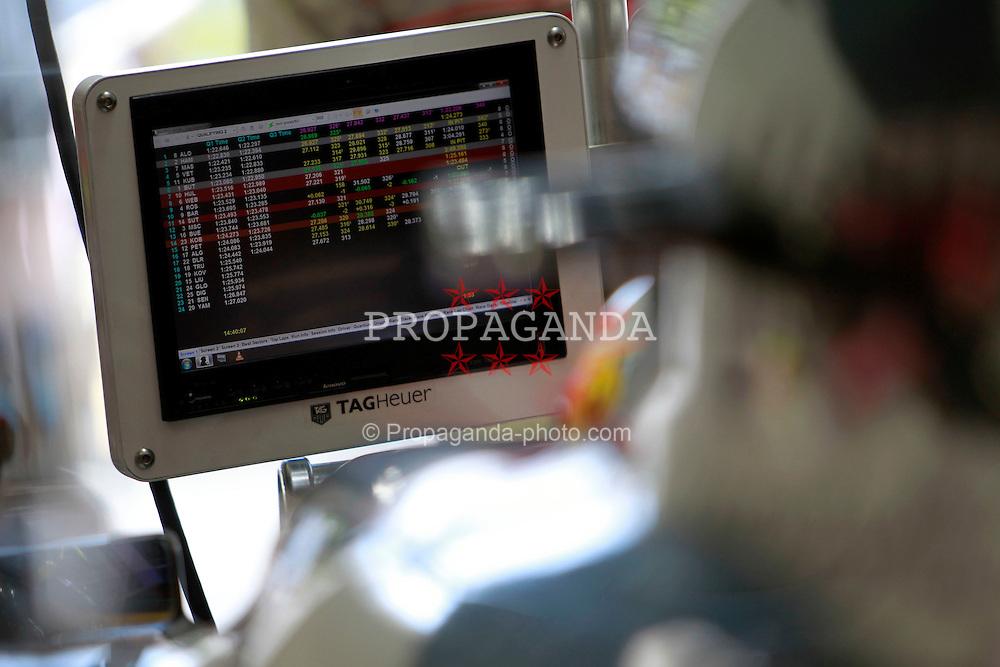 Motorsports / Formula 1: World Championship 2010, GP of Italy, Monza, Qualifying, 02 Lewis Hamilton (GBR, Vodafone McLaren Mercedes), timing screen, Bildschirm