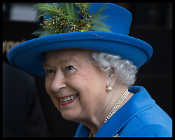 February 14, 2019 - London, London, United Kingdom - Image licensed to i-Images Picture Agency. 14/02/2019. London, United Kingdom. The Queen during a visit at Watergate House in London to mark the centenary of GCHQ, the UK's Intelligence, Security and Cyber Agency. (Credit Image: © Stephen Lock/i-Images via ZUMA Press)