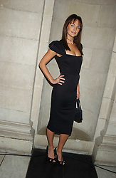 Model SAFFRON ALDRIDGE at the 2005 British Fashion Awards held at The V&A museum, London on 10th November 2005.<br />