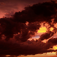 Africa, South Africa, Johanessburg. Stormy sky at sunset.