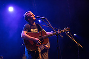 Dave Simonett, the lead singer for Trampled by Turtles, on stage at Celebrate Brooklyn.