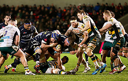 Ross Harrison of Sale Sharks attacks - Mandatory by-line: Matt McNulty/JMP - 03/03/2017 - RUGBY - AJ Bell Stadium - Sale, England - Sale Sharks v Northampton Saints - Aviva Premiership