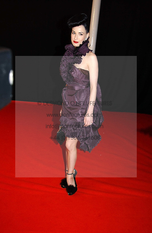 DITA VON TEESE at the Moet & Chandon Fashion Tribute 2005 to Matthew Williamson, held at Old Billingsgate, City of London on 16th February 2005.<br /><br />NON EXCLUSIVE - WORLD RIGHTS