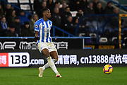 Terence Kongolo of Huddersfield Town (5) in action during the Premier League match between Huddersfield Town and Southampton at the John Smiths Stadium, Huddersfield, England on 22 December 2018.