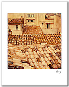 Tile Roofs, St Tropez 1991. 11x14 signed archival pigment print. Free shipping USA
