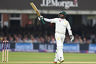Azhar Ali of Pakistan gets his 50 on DAy Two of the NatWest Test Match match at Lord's, London<br /> Picture by Simon Dael/Focus Images Ltd 07866 555979<br /> 25/05/2018