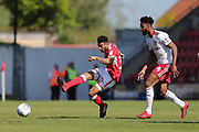 Swindon Keshi Anderson (30) passes the ball during the EFL Sky Bet League 2 match between Swindon Town and Accrington Stanley at the County Ground, Swindon, England on 5 May 2018. Picture by Gary Learmonth.