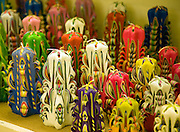Unusual candles on display Guernsey Candles Centre, St Sampson, Guernsey