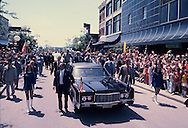 President Gerald Ford campaigning for the presidency in Evansville Indiana on April 23, 1976<br /> Photo by Dennis Brack