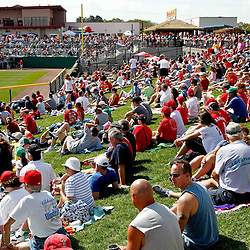 March 03, 2012; Clearwater, FL, USA; A general view during spring training game between the New York Yankees and Philadelphia Phillies at Bright House Networks Field. Mandatory Credit: Derick E. Hingle-US PRESSWIRE