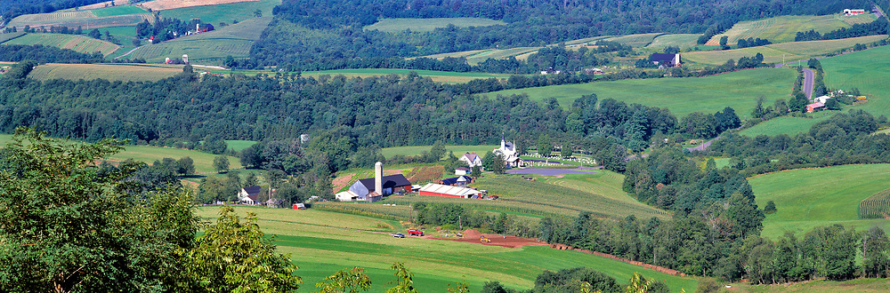 Farms in the Lewisburg area of West Virginia showcase the fertile landscape.