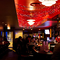 Interior of Estelle's Lounge, a bar at North Ave. near Damen & Milwaukee, Wicker Park, Chicago, Illinois, USA.