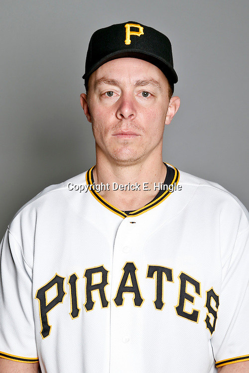 February 17, 2013; Bradenton, FL, USA;  Pittsburgh Pirates infielder Brandon Inge (78) poses for photo day at Pirate City.  Mandatory Credit: Derick E. Hingle-USA TODAY Sports