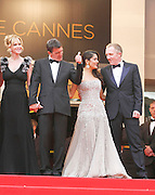 11.MAY.2011. CANNES<br /> <br /> MELANIE GRIFFITH, ANTONIO BANDERAS, SALMA HAYEK AND FRANCOIS HENRI PINAULT ON THE RED CARPET FOR THE OPENING CEREMONY OF THE 64TH CANNES INTERNATIONAL FILM FESTIVAL 2011 IN CANNES, FRANCE.<br /> <br /> BYLINE: EDBIMAGEARCHIVE.COM<br /> <br /> *THIS IMAGE IS STRICTLY FOR UK NEWSPAPERS AND MAGAZINES ONLY*<br /> *FOR WORLD WIDE SALES AND WEB USE PLEASE CONTACT EDBIMAGEARCHIVE - 0208 954 5968*