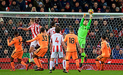 STOKE-ON-TRENT, ENGLAND - Wednesday, November 29, 2017: Liverpool's captain goalkeeper Simon Mignolet during the FA Premier League match between Stoke City and Liverpool at the Bet365 Stadium. (Pic by David Rawcliffe/Propaganda)