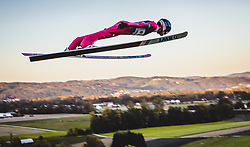 29.09.2018, Energie AG Skisprung Arena, Hinzenbach, AUT, FIS Ski Sprung, Sommer Grand Prix, Hinzenbach, im Bild Maciej Kot (POL) // Maciej Kot of Poland during FIS Ski Jumping Summer Grand Prix at the Energie AG Skisprung Arena, Hinzenbach, Austria on 2018/09/29. EXPA Pictures © 2018, PhotoCredit: EXPA/ JFK