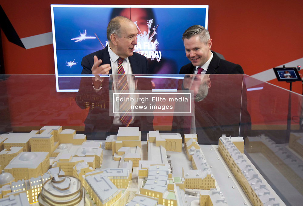 Mike Prentice, executive director of CBRE retail, and development adviser to TH Real Estate with Finance Secretary Derek Mackay viewing a model of St James Edinburgh. Pic copyright Terry Murden @edinburghelitemedia