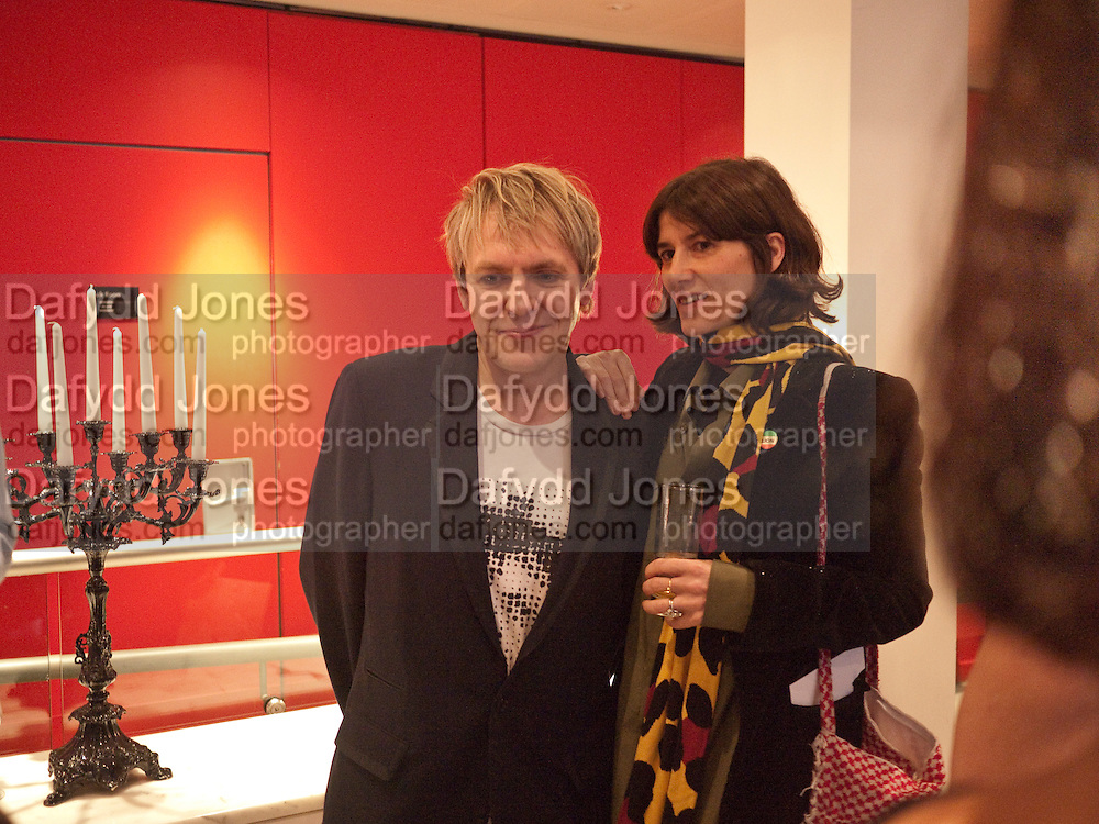NICK RHODES; BELLA FREUD, Prima Donna opening night. Sadler's Wells Theatre, Rosebery Avenue, London EC1, Premiere of Rufus Wainwright's opera. 13 April 2010