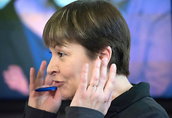© Licensed to London News Pictures. 24/02/2015. London, UK. Caroline Lucas MP for Brighton Pavillion.  The Green Party Campaign Launch ahead of the UK general election at RSA House in Central London today 24th February 2015. Photo credit : Stephen Simpson/LNP