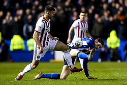 Barry Bannan of Sheffield Wednesday challenges Enda Stevens of Sheffield United - Mandatory by-line: Robbie Stephenson/JMP - 04/03/2019 - FOOTBALL - Hillsborough - Sheffield, England - Sheffield Wednesday v Sheffield United - Sky Bet Championship