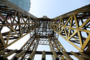 SHENYANG, CHINA - DECEMBER 08: (CHINA OUT) <br /> <br /> Eiffel Tower Replica Appears<br /> <br /> A 30-meter-high golden Eiffel Tower replica is seen on December 8, 2015 in Shenyang, Liaoning Province of China. <br /> ©Exclusivepix Media