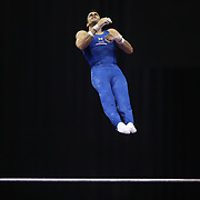 Danell Leyva, Homestead, Florida, in action on the Horizontal bar during the Senior Men Competition at The 2013 P&G Gymnastics Championships, USA Gymnastics' National Championships at the XL, Centre, Hartford, Connecticut, USA. 16th August 2013. Photo Tim Clayton
