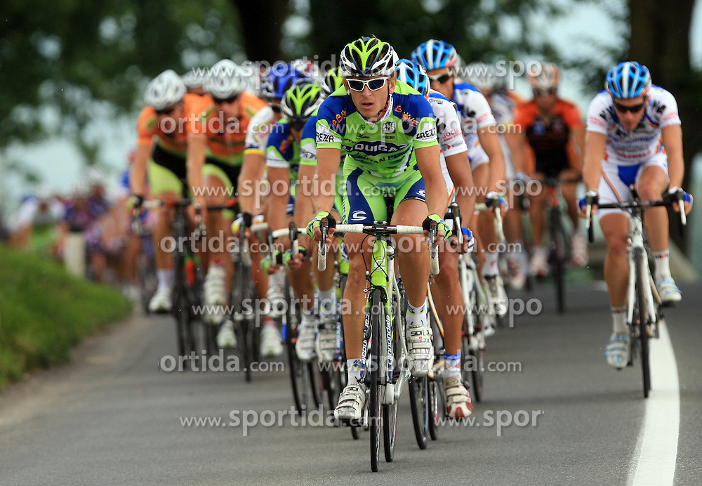 The leader of peloton Maciej Bodnar of Poland (Liquigas) during 1st stage of the 15th Tour de Slovenie from Ljubljana to Postojna (161 km) , on June 11,2008, Slovenia. (Photo by Vid Ponikvar / Sportal Images)/ Sportida)