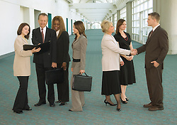 Group of business people meeting during a convention