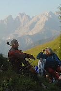 I Suoni delle Dolomiti l'alba con Margherita Hach e Mario Brunello al rifugio Fuciade 21-07-2007 © foto Daniele Mosna