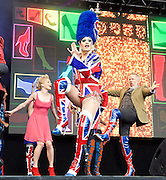 West End Live! 2016 <br /> Trafalgar Square, London, Great Britain <br /> 18th June 2016<br /> <br /> <br /> <br /> KINKY BOOTS<br /> <br /> <br /> Photograph by Elliott Franks <br /> Image licensed to Elliott Franks Photography Services