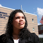Arquianys Martinez, 15, will receive her high school diploma from Lawrence High School on June7/2009. <br /> <br /> Arguianys, originally from Dominican Republic came to US when she was 8 years old. <br /> <br /> Thanks to the strong support of her parents, she managed to learned English while enrolled in several after-school programs.