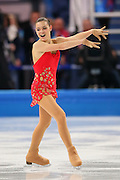 """Adelina Sotnikova (RUS),<br /> FEBRUARY 19, 2014 - Figure Skating : <br /> Women's Short Program <br /> at """"ICEBERG"""" Skating Palace <br /> during the Sochi 2014 Olympic Winter Games in Sochi, Russia. <br /> (Photo by Yohei Osada/AFLO SPORT)"""
