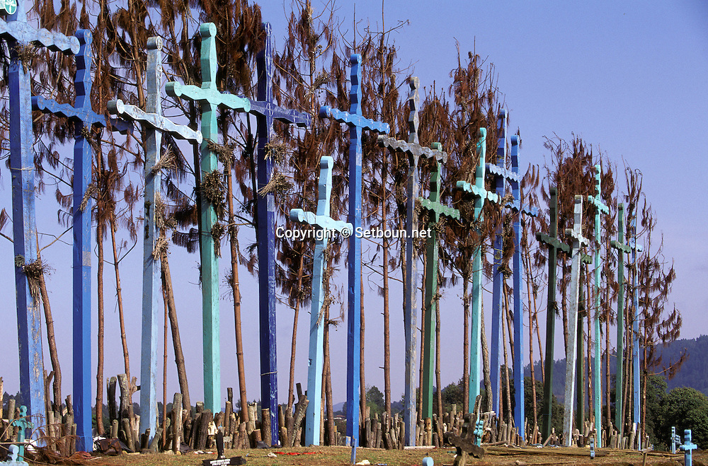 = El romerillo village cemetery  Chiapas  Mexico  /// cimetière du village d'El Romerillo  Chiapas  Mexique  +