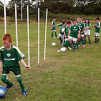Eric Copley practices his dribbling at the Moneypoint F.C F.A.I summer soccer camp in Kilrush during the week.<br /><br /><br /><br />Photograph by Yvonne Vaughan.