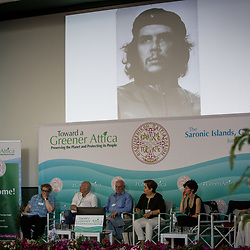 Raj Patel, film-maker and activist, spoke to the Greener Attica Symposium on the Saronic Islands, Greece. This international ecological symposium organised by the Ecumenical Patriarchate convened theologians and scientists, political and business leaders, as well as activists and journalists from all over the world. Participants explored pressing issues such as climate change, loss of diversity and plastic pollution.