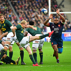 (L-R) Ross Cronje of South Africa and Jefferson Poirot of France during the test match between France and South Africa at Stade de France on November 18, 2017 in Paris, France. (Photo by Dave Winter/Icon Sport)
