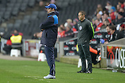 Huddersfield Town head coach/manager David Wagner during the Sky Bet Championship match between Milton Keynes Dons and Huddersfield Town at stadium:mk, Milton Keynes, England on 23 February 2016. Photo by Dennis Goodwin.