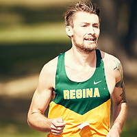 Greg Hetterley finishes in the lead during the Regina Cougars Cougar Trot on Sat Sep 15 at Wascana Park. Credit: Arthur Ward/Arthur Images