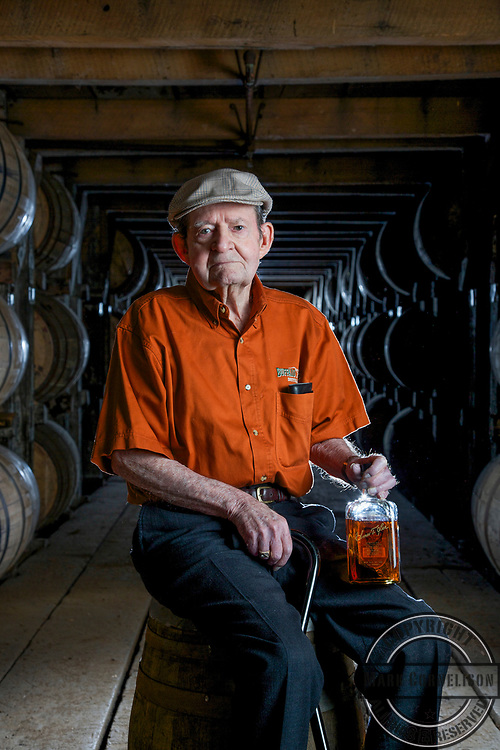 Master Distiller Elmer T. Lee on May 15 2013 in Frankfort, Kentucky.   Photo by Mark Cornelison