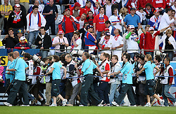 Photographers before the group shots before the UEFA EURO 2008 Group D soccer match between Sweden and Russia at Stadion Tivoli NEU, on June 18,2008, in Innsbruck, Austria. Russia won 2:0. (Photo by Vid Ponikvar / Sportal Images)