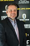 A portrait of Marshall Zelaznik, UFC VP of International Affairs