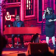 NLD/Amsterdam/20180414 - Holland Zingt Hazes 2018, Jeroen van der Boom en Roxanne Hazes