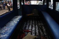 May 25, 2017 - East Jakarta, Capital Region of Jakarta, Indonesia - Police forensic research team, with tight security, conducted a crime scene at the site of the explosion of two suicide bombs at the bus terminal of Kampung Melayu. Attacks of two suicide bombings occurred Wednesday night, May 24, Killing three police officers and two suspected bombers. (Credit Image: © Tubagus Aditya Irawan/Pacific Press via ZUMA Wire)