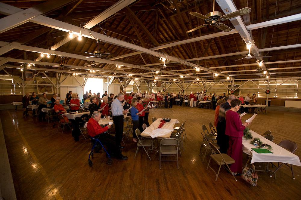 Polka Lovers Club Meeting in La Grange, Texas.