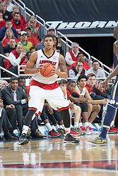 Louisville guard/forward Wayne Blackshear.<br /> <br /> The University of Louisville hosted Notre Dame, Wednesday, March 04, 2015 at Yum Center in Louisville. <br /> <br /> Photo by Jonathan Palmer